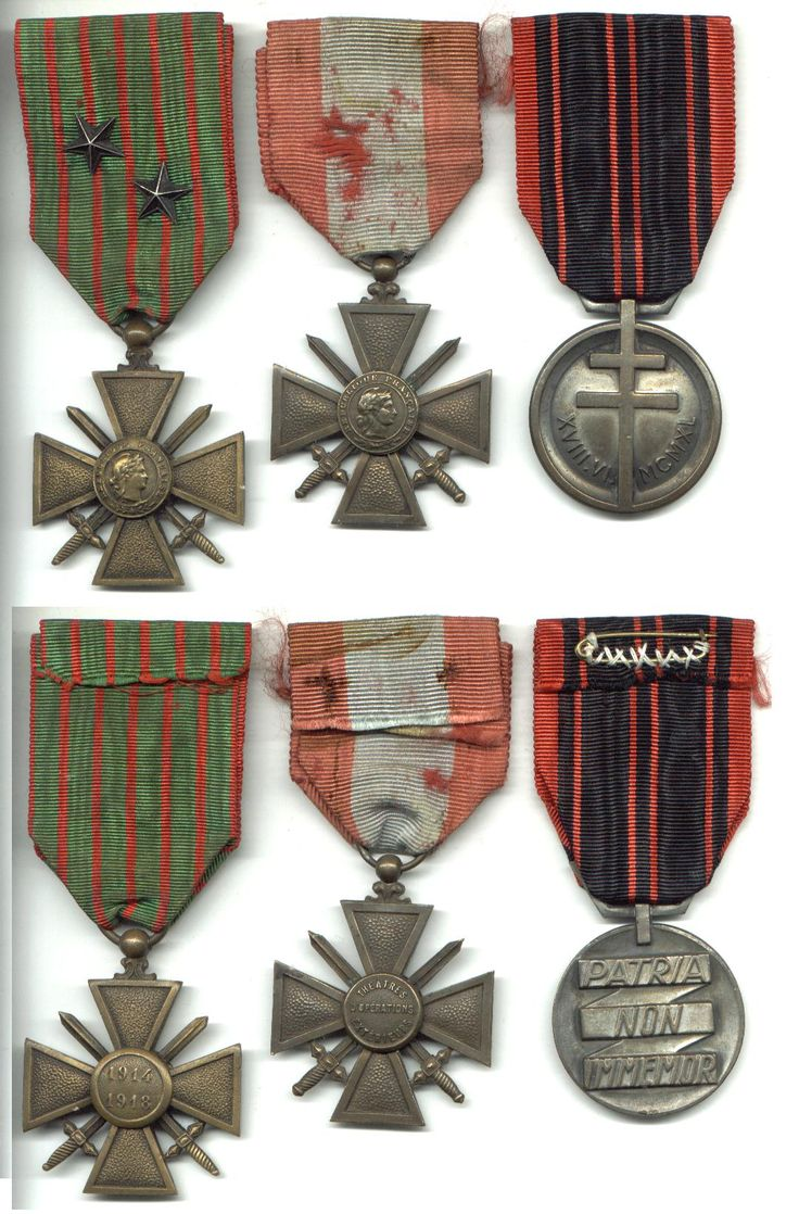 WWII medals | WWI France Foreign Legion & WWII 3 medal set in > WWI medals > Medals ...