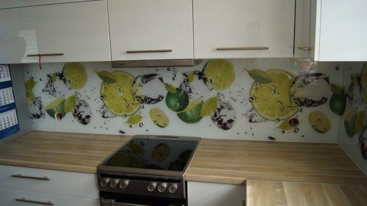 Panel Szklany Z Limonkami Kuchnia Limonki Owoce Cytrusy