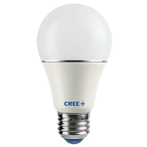 Cree LED Lighting SA19-11027MDFD-12DE26-1-E1 Single Dimmable A Series 11.2 Watt A19 Medium Base Soft White Energy Star LED Bulb