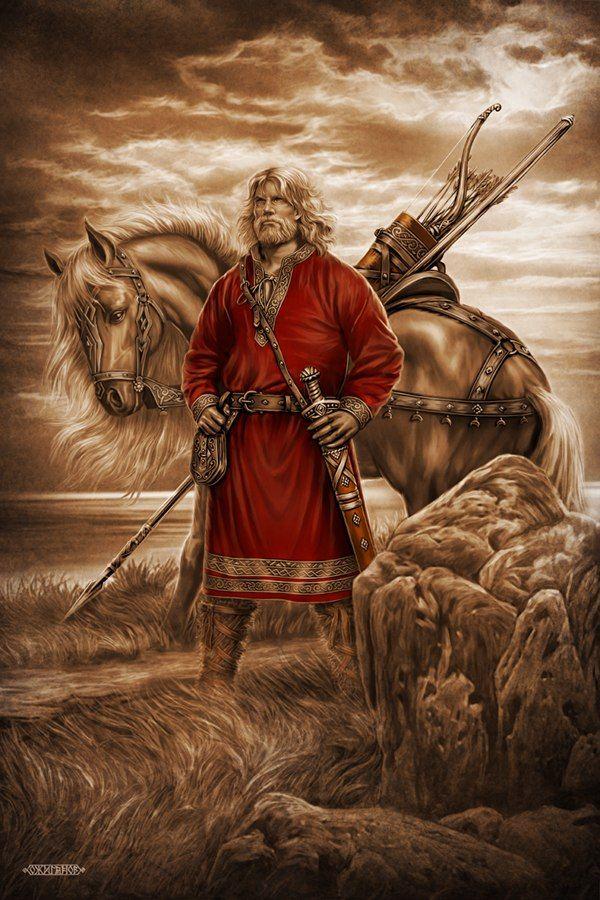 ИЛЬЯ МУРОМЕЦ Родные Боги. Картины Игоря Ожиганова. Славянские и скандинавские сюжеты
