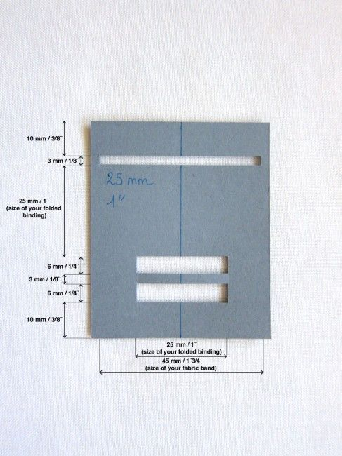 How-to Bias Tape Maker Mesurments