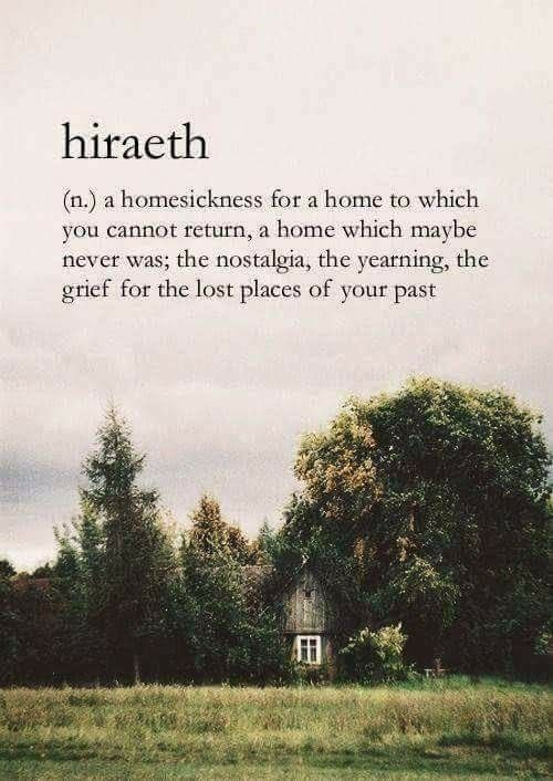 In this life or others....there's a longing of lost places of the past