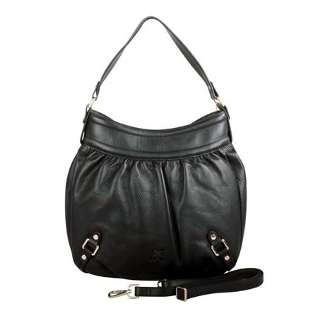 Karla Hanson - Black Hobo Bag - $199.00/each This Ladies Fashion Crossbody Bag is made from cow leather with a golden finish, approximately 32 x 6 x 33-21 cm. Presented by www.ecomcreator.com