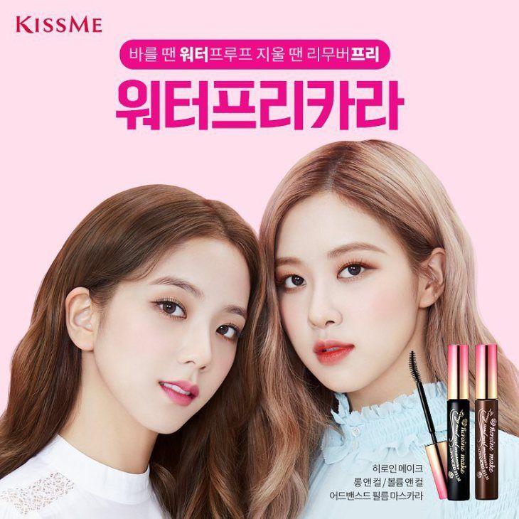 Blackpink Jisoo And Rose For Kiss Me Makeup Brand Commercial Blackpink Blackpink Jisoo Blackpink Rose