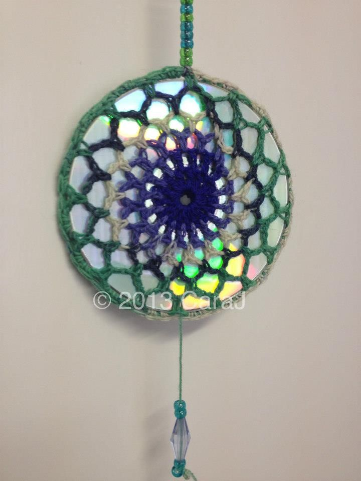 crochet over CD for suncatcher