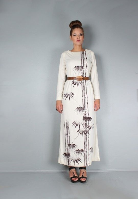 maxi dress 64 inches bamboo