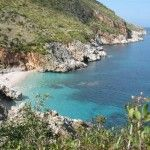 Cala Capreria, one of the beautiful coves of the nature reserve of the Zingaro, next to Scopello. http://www.dreamsicilyvillas.com/guide/sicily-natural-sites/zingaro-nature-reserve/