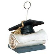 Grad Cap Photo/Balloon Holder Party Accessory (1 count)