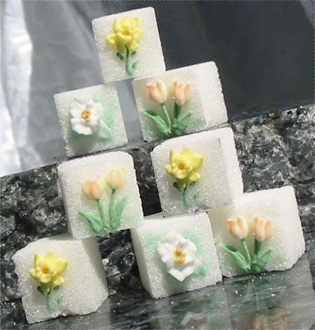 decorated sugar cubes
