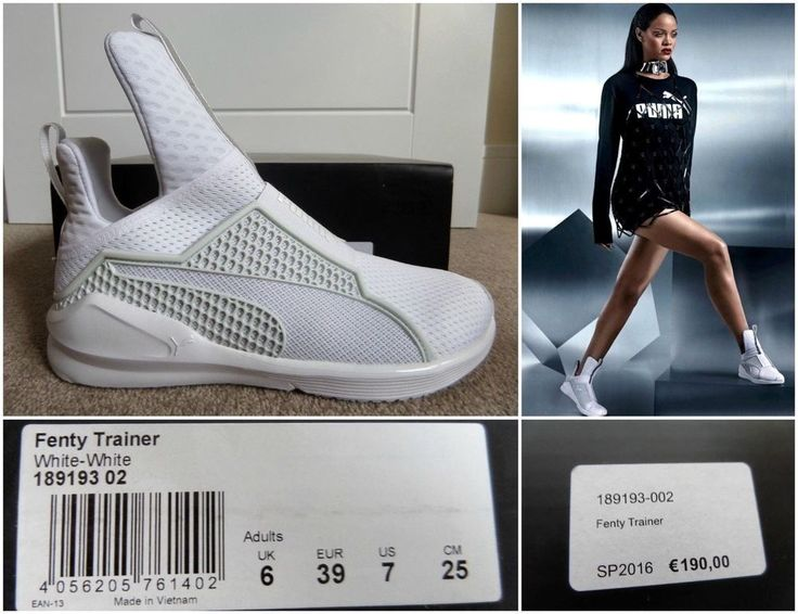 PUMA RIHANNA FENTY TRAINER 189193-02 SNEAKERS CREEPERS WHITE AUTHENTIC UK6, €190 #PUMA #HiTopTrainerBoots