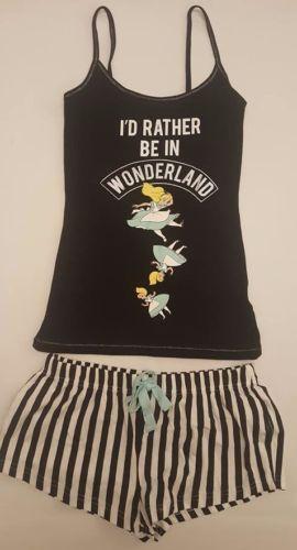 Primark-Donna-Disney-Alice-nel-paese-delle-meraviglie-Cami-Canotta-amp-Pantaloncini-Set-Pigiama