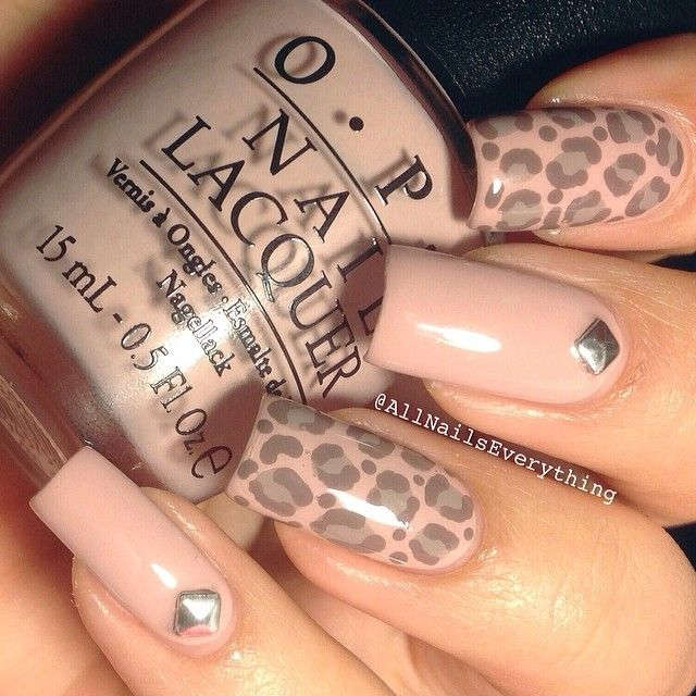 Photo by All Nails Everything(allnailseverything)'s nude leopard nails | iPhoneogram
