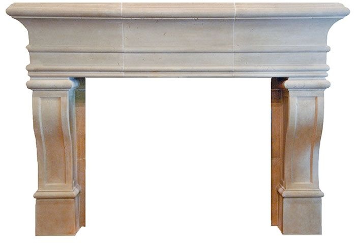 Cast stone fireplace mantel is a French design. GREAT IDEA  http://fireplacechicago.com/cast-stone-fireplace-mantels.html
