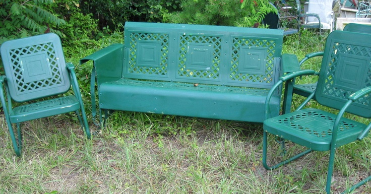 Unrestored Metal 3Seat Porch Gliders - Vintage Gliders
