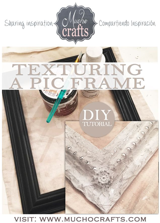 Love this idea!  DIY - Texturing a Frame - Tutorial    cm