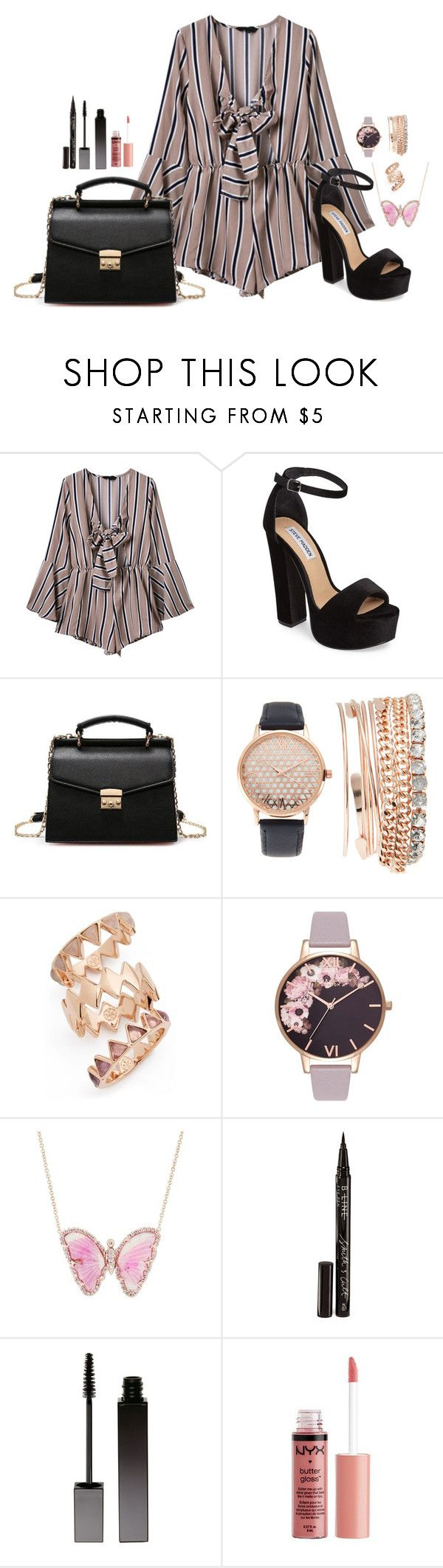 """""""Unbenannt #120"""" by himari18 ❤ liked on Polyvore featuring WithChic, Steve Madden, Jessica Carlyle, Tory Burch, Olivia Burton, Luna Skye, Smith & Cult, Serge Lutens and Charlotte Russe"""