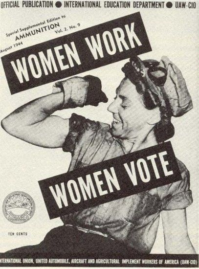 If a woman worked hard to bring you in to the world, then you should vote. Vintage Voting Posters