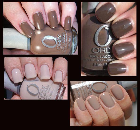 Podzimní čokoládové nehty
