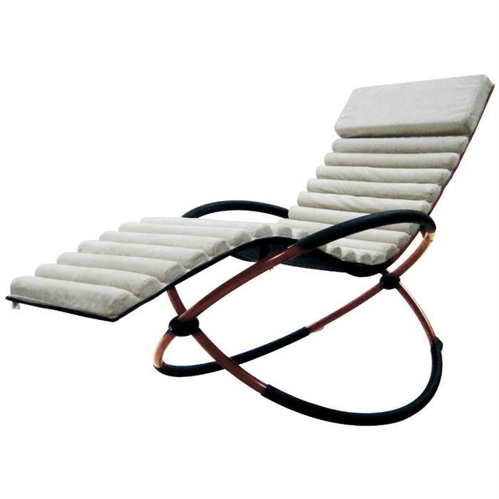 Fauteuil transat en textilene SWING FUTON Beige - Achat / Vente chaise longue - transat Fauteuil transat en textilene - Cdiscount