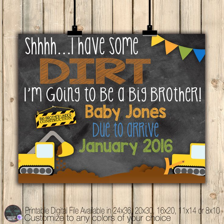 Best 25 Big brother announcement ideas – Create Your Own Baby Announcement