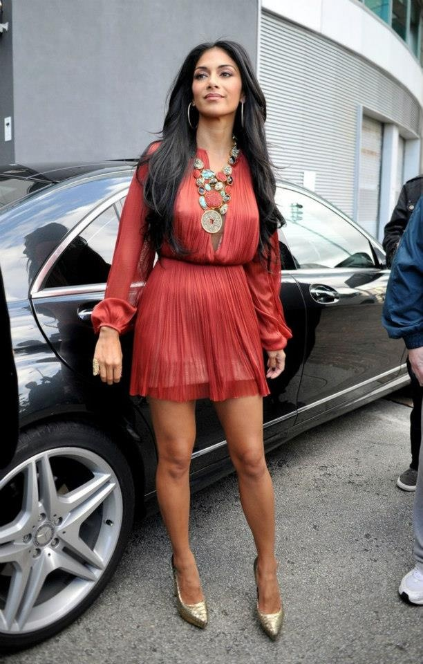 Nicole Scherzinger's sexy red dress