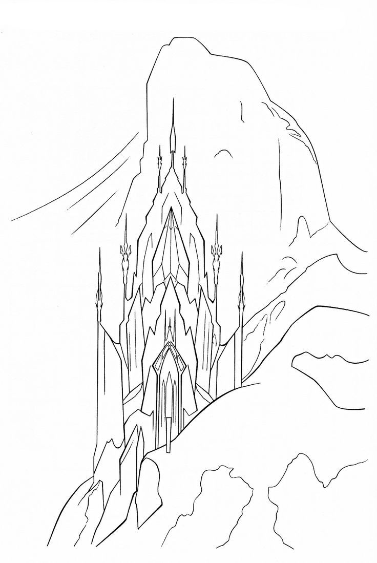how to draw a ice castle