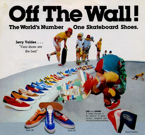 Vans Skateboard shoes (1977) I remember when they came to the West Covina Mall & you could get a pair of deck shoes for a little less than five bucks