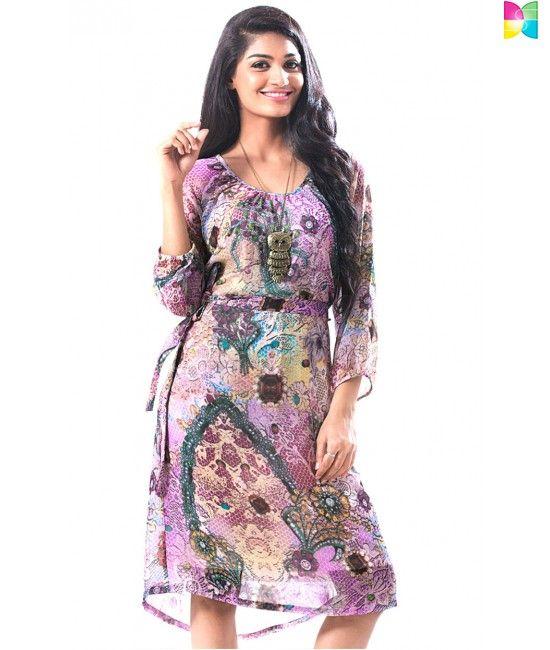 Shinayale's Chic Jewel Print Dress