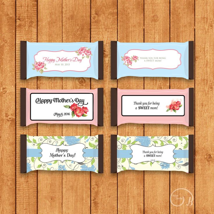 Customized Mother's Day Candy Bar Wrapper for Hershey Bars - You Print by DesignsByBardha on Etsy https://www.etsy.com/listing/235747238/customized-mothers-day-candy-bar-wrapper
