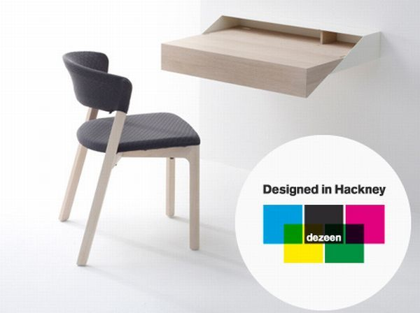 Deskbox is a clever desk with storage space that be closed shut