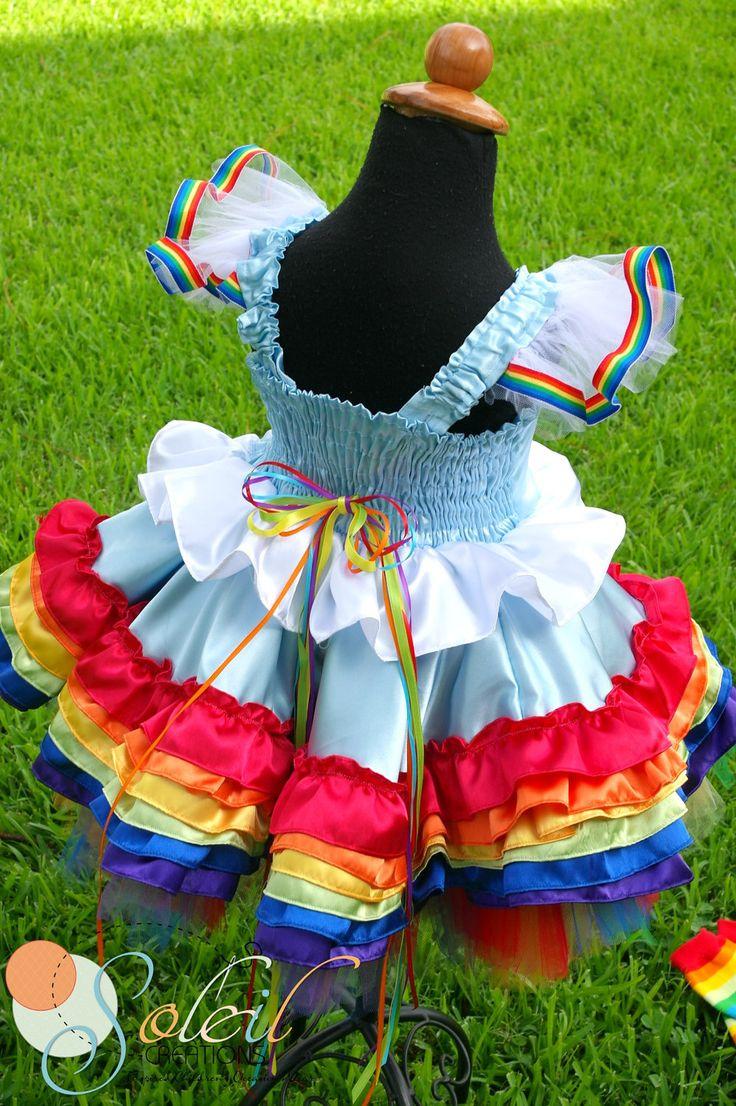Rainbow Party Birthday Dress. $74.99, via Etsy.