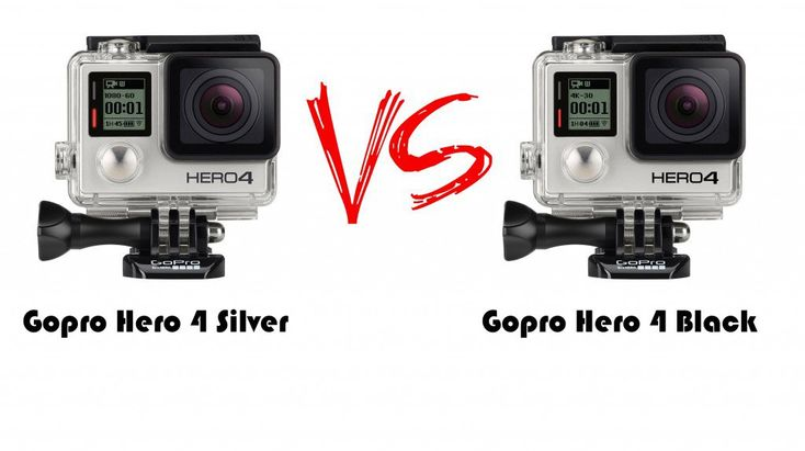 Key differences between the GoPro Hero4 Black camera and the GoPro Hero4 Silver.  Plus the differences between GoPro Hero3+ and GoPro Her04.