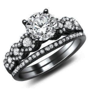 The 25+ Best Black Wedding Rings Ideas On Pinterest | Black Engagement Rings,  Black Band Engagement Rings And Black Diamonds