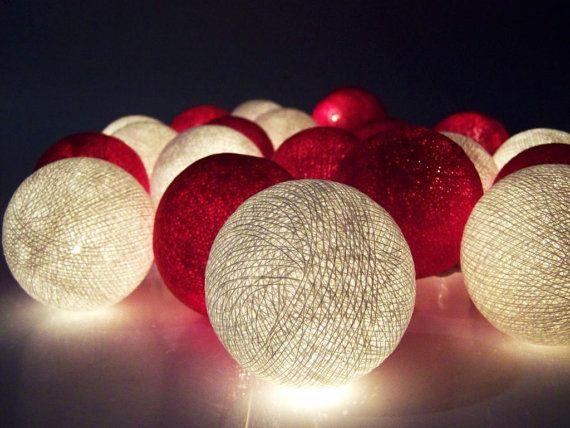 Fairy lights big balls string lights by SiamroseOriginal on Etsy