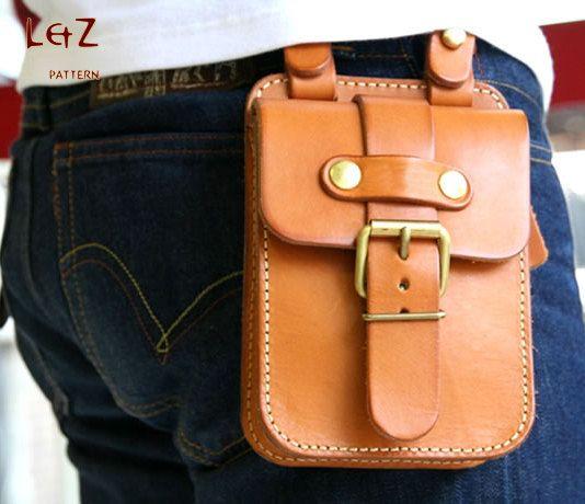 Handmade leather waist bag