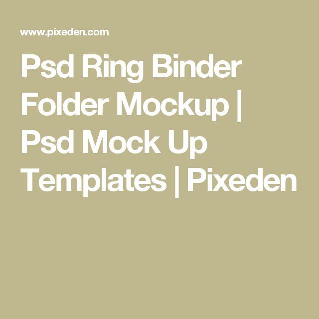 Psd Ring Binder Folder Mockup | Psd Mock Up Templates | Pixeden