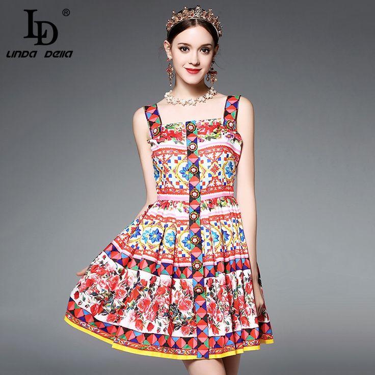41.64$ Buy here - <b>High Quality</b> Runway Designer Summer <b>Dress</b> ...