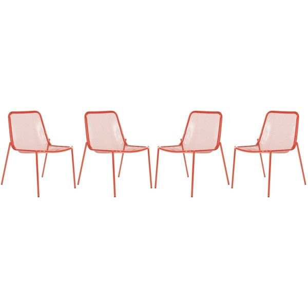 Safavieh Metropolitan Dining Orion Red Dining Chairs (Set of 4)