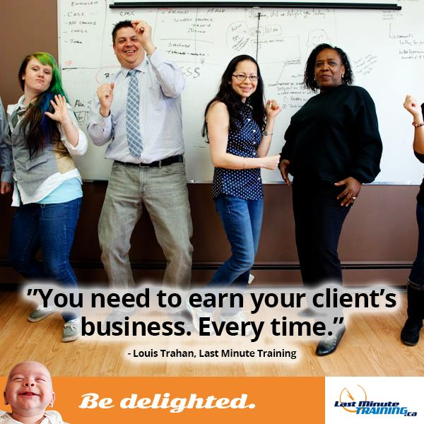 bedelighted, LMT, louis trahan, last minute training, big deal, funny, customer service, office, employees, work, workplace, humour,
