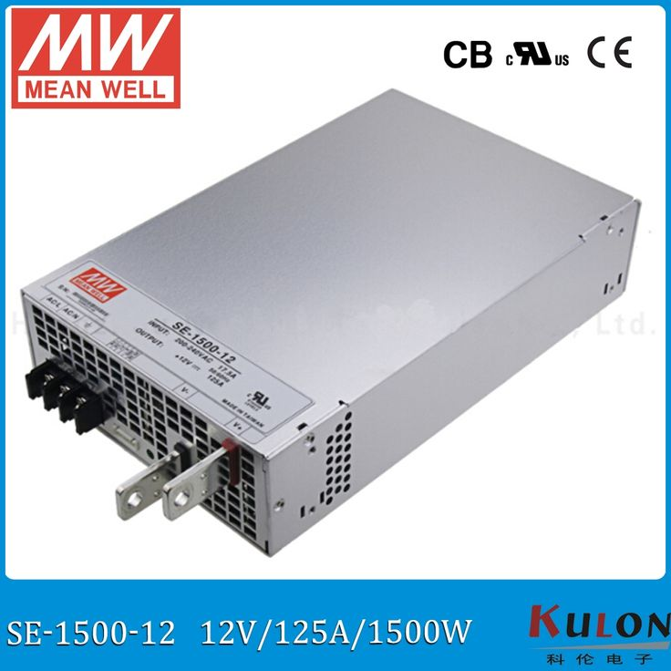 288.00$  Watch here - http://aliryl.worldwells.pw/go.php?t=32766632507 - Original Meanwell 1500W 125A 12V Power Supply SE-1500-12 AC 220V to DC 12V PSU MEAN WELL switch mode Power Supply 12V  288.00$