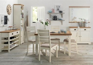 With hints of French farmhouse detail, the Prodigy Two Tone collection will bring a taste of understated country living to any kitchen or dining room.