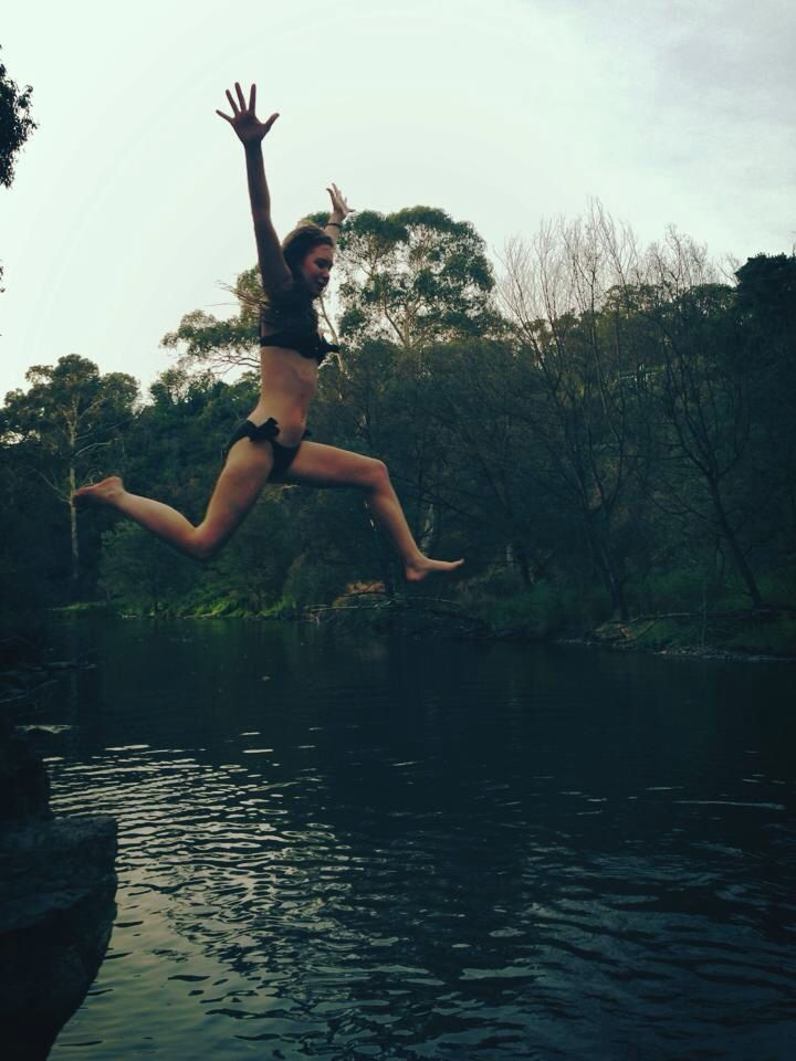 Jumping in to the Yarra River in Warrandyte, Australia on a hot day.