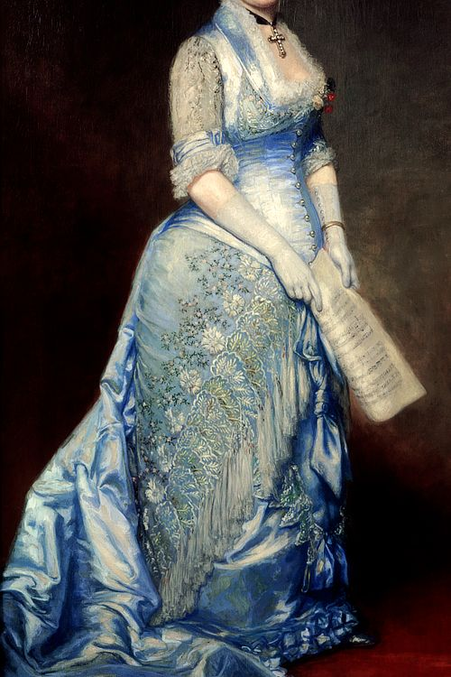 warpaintpeggy:  INCREDIBLE DRESSES IN ART (59/∞)Emma Cecilia Thursby by George Peter Alexander Healy, 1879