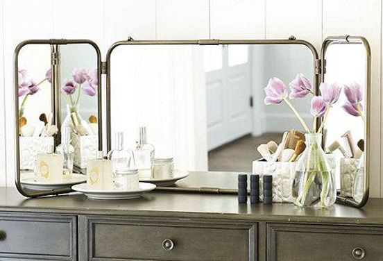 Invest in a Tri-Fold Mirror Because sometimes the front view just isn't enough.