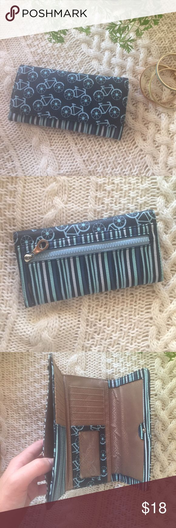 "Blue bicycle print wallet Cute brand new blue wallet with bicycle print.   *downsizing, everything must go! Bundles of 3+ items get an automatic 20% discount at checkout. Offers on individual listings are considered via the ""make an offer"" feature only.. I can usually ship next day! Bags Wallets"