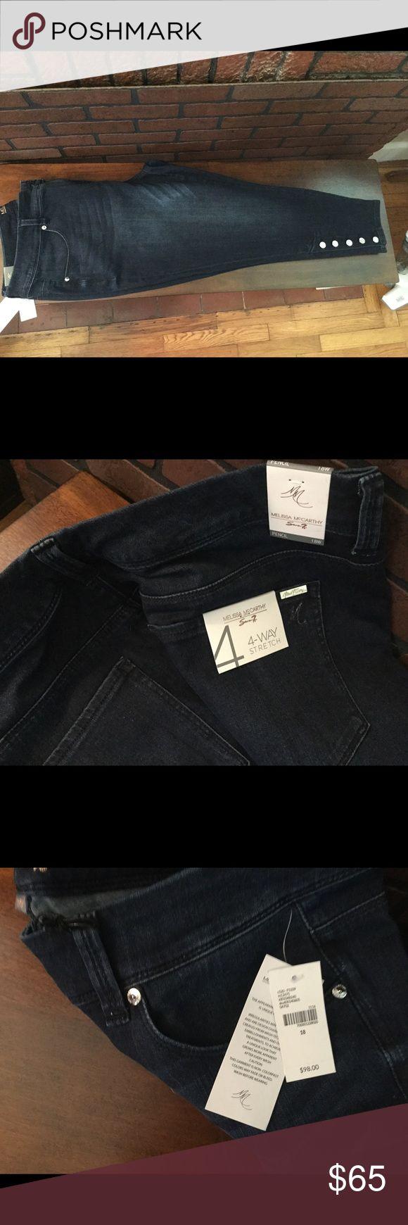 Seven Melissa McCarthy pencil jeans Brand new with tags Seven Melissa McCarthy jeans, purchased at Lane Bryant. Beautiful button detail on legs Melissa McCarthy Seven7 Jeans Skinny