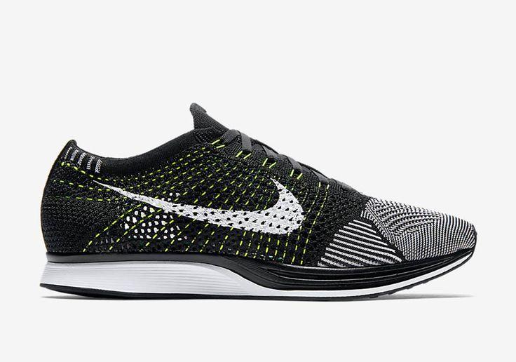 Nike Flyknit Racer Black/White-Volt Release Date