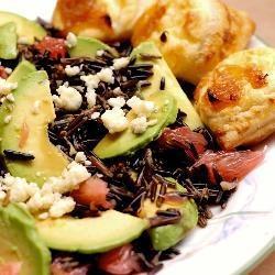 Салат из дикого риса (Wild rice salad with gorgonzola and grapefruit)