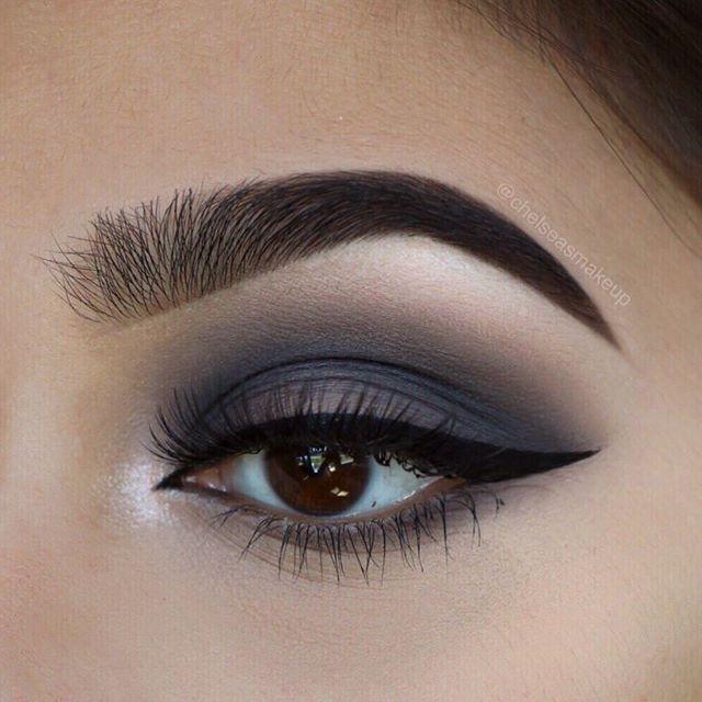 """Smokey eye using the new @morphebrushes x @jaclynhill palette Brows: @anastasiabeverlyhills • dipbrow pomade in """"ebony"""" Eyes: @morphebrushes x @jaclynhill palette Liner: @lorealmakeup • infallible paints liquid eyeliner  Lashes: @iconalashes • love story - signature #beautybakerie #makeup #instamakeup #cosmetic #cosmetics #mua #eyeshadow #lipstick #mascara #palettes #eyeliner  #lips #concealer #foundation #powder #eyes #eyebrows #eyelashes #primers #beauty #beautiful #morphebrushes…"""