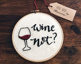 Printable Art Wine Not Wall Print Women Gift by elemenopeedesign